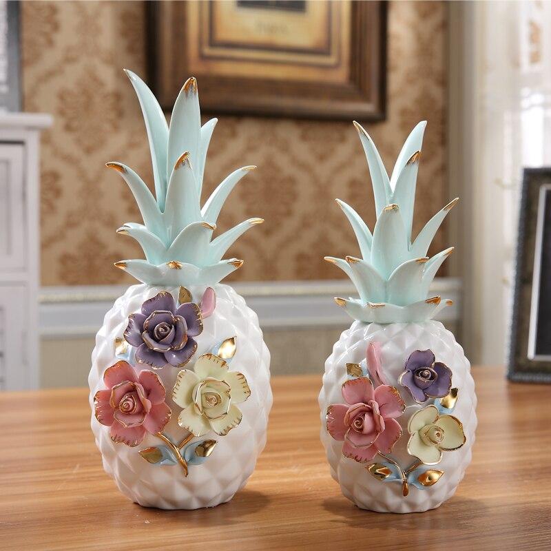Créatif en céramique ananas ornements maison accessoires maison intérieur décorations ameublement personnalisé artisanat ornements