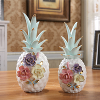 Creative ceramic pineapple ornaments home accessories home interior decorations furnishings personalized handicrafts ornaments