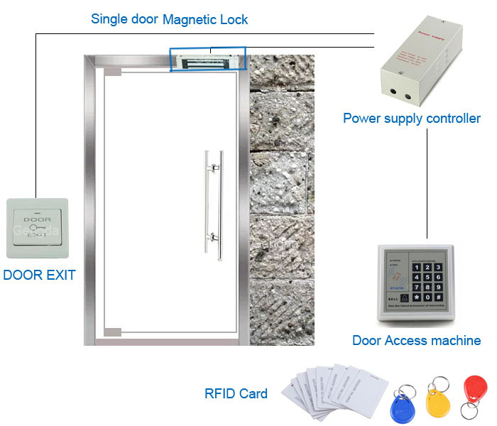 Newest Door Entry Access Control System Kit Set Magnetic Lockdoor