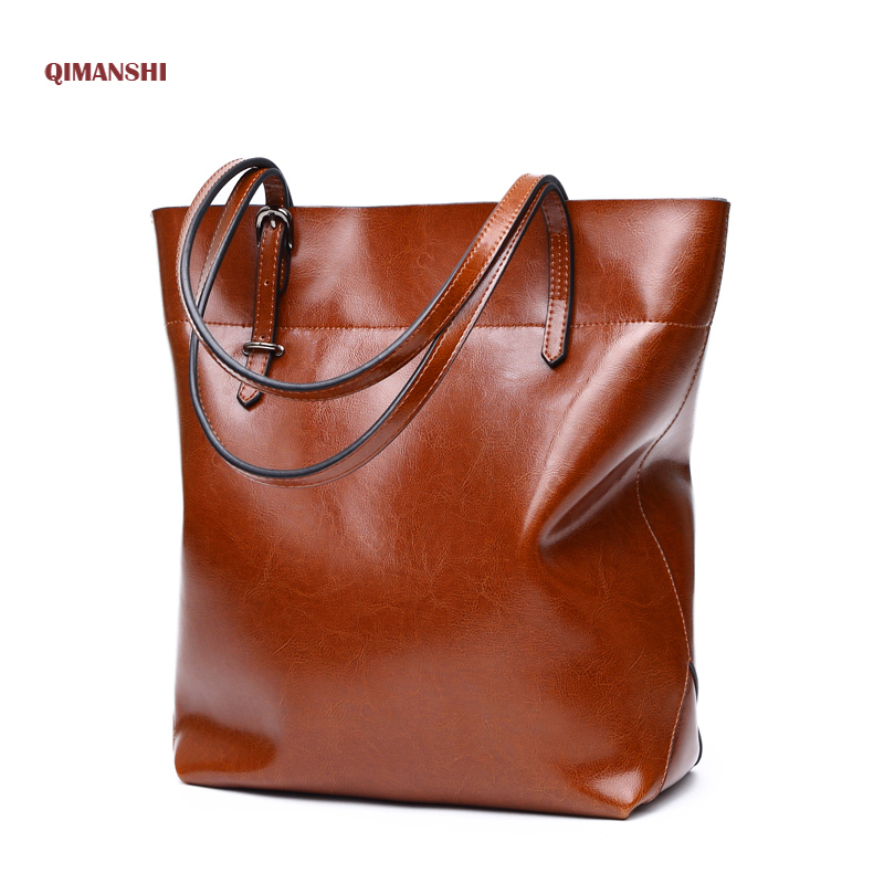 QIMANSHI Soft Genuine Leather Messenger Bags Fashion Luxury Shoulder Bag For Women Large Famous Brand designer Ladies Handbag luxury genuine leather bag fashion brand designer women handbag cowhide leather shoulder composite bag casual totes