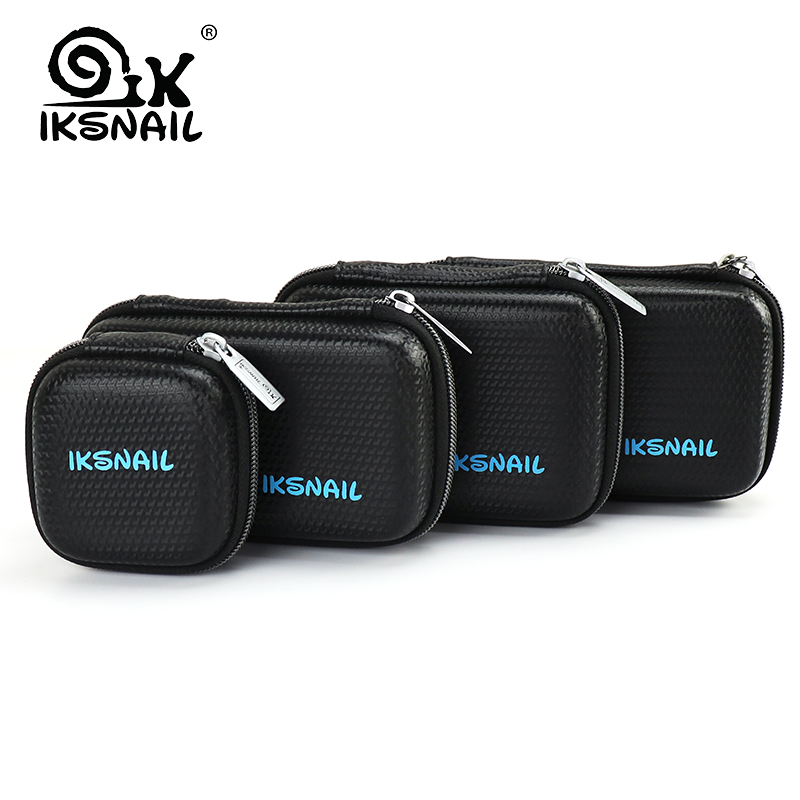 IKSNAIL Multi-Size Glow Airpods Case SSD Protect Bag For Headphone Power Bank USB Cable Charger External Hard Disk Earphone Case