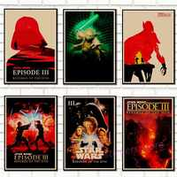 Vintage Star Wars poster retro art classic house decorated movie Revenge Of The Sith Star Wars kraft posters wall stickers /5005