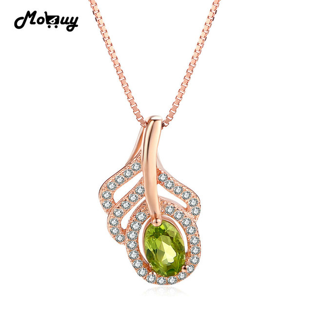 necklace product peridot vintage