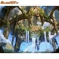 RUOPOTY Rahmen Bunte Orang-utan Malerei Durch Zahlen Kit Tiere Acryl Diy Farbe Durch Zahlen Wand Kunst Bild Für Wohnkultur