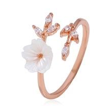 Open Ring Rose, Gold Branch, Shell Flower, Open Ring, Jewelry, Engagement Ring, Zircon Pearl, Rose and Gold Wedding пленка для ламинирования office kit lpa480 80мкм 216х303 мм 25шт глянцевая a4