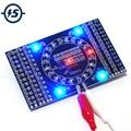 SMD Rotierenden Blinkende LED Komponenten Löten Praxis Bord Geschick Elektronische Schaltung Training Suite Elektronische DIY Kit