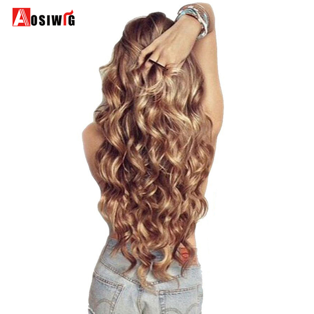 Aosiwig Hair Extensions Invisible Wire No Clips In Full Head Hair