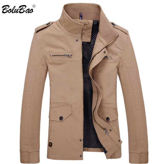 BOLUBAO 2018 Men Jacket Coat New Fashion Trench Coat New Autumn Brand Casual Silm Fit Overcoat Jacket Male