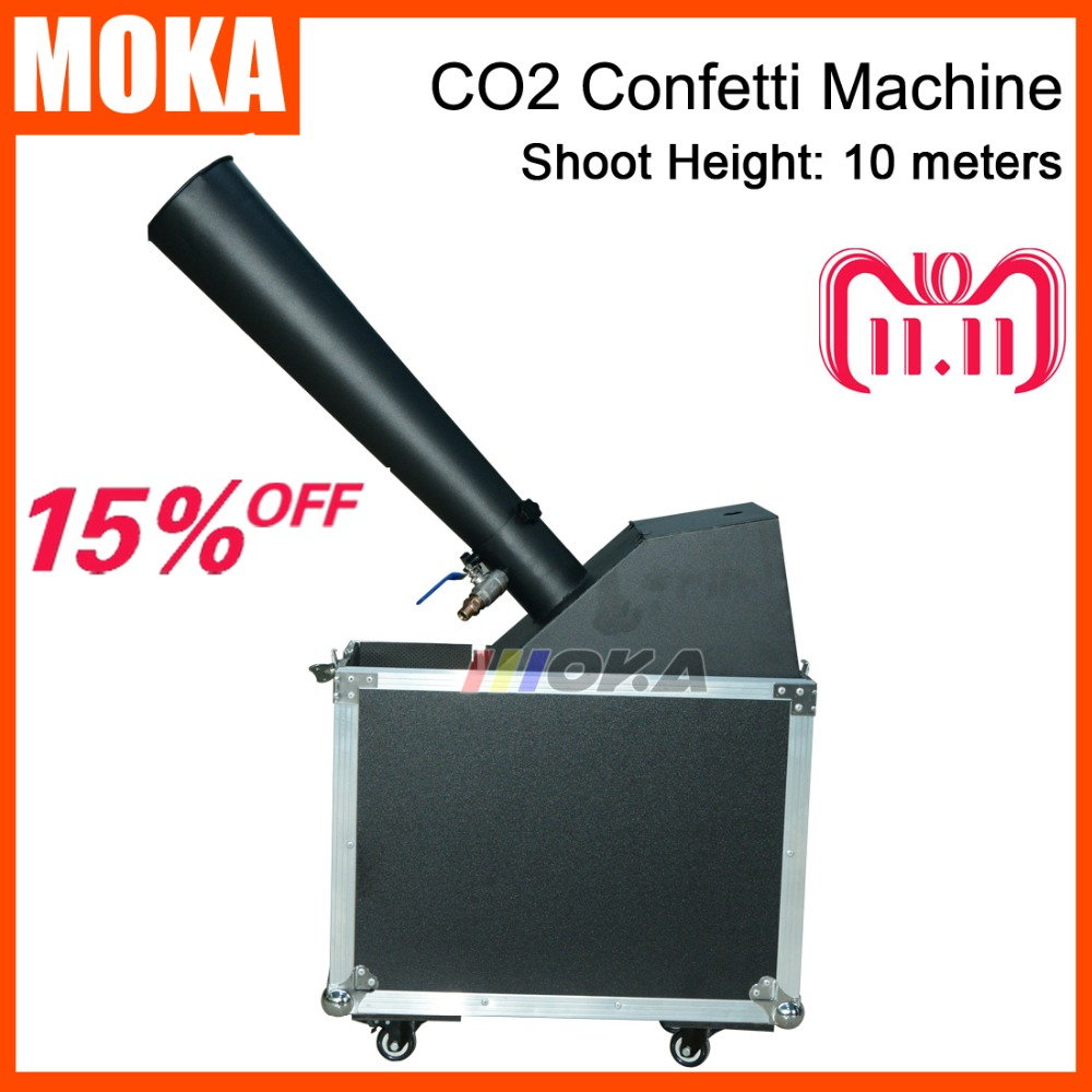1pcs/lot Stage Effect Co2 Confetti Machine Co2 Gas Paper Cannon Blaster Jet Hand Control Confetti Launcher Machine led co2 confetti dj gun colorful manual control led co2 cryo jet confetti cannon machine for disco party wedding