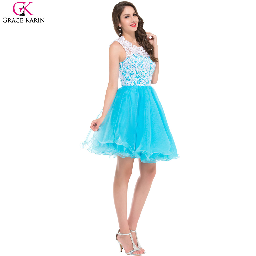 2017 New Fashion Lace Applique Short Evening Dresses 2017 Sheer Back ...
