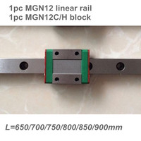 12mm Linear Guide MGN12 L= 650 700 750 800 850 900 mm linear rail way + MGN12C or MGN12H Long linear carriage CNC X Y Z