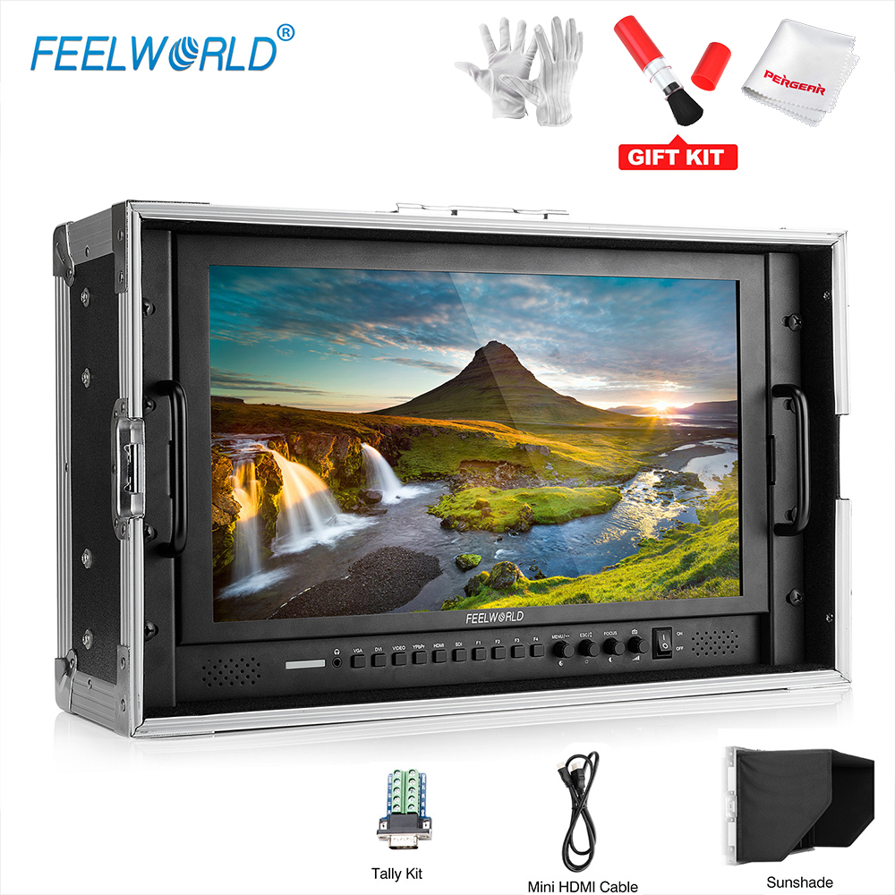 Feelworld P173-9HSD-CO 17.3 Inch Desktop LCD Monitor for Broadcast Monitoring with Aviation Aluminum Case, 3G-SDI HDMI AV YPbPr buy monitor for desktop