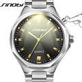 SINOBI Relógio de Aço Genebra Mens Moda À Prova D' Água Relógios de Luxo Da Marca de Quartzo de Pulso Montre Homme 2016 Relogio masculino