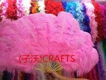 13 воротником! Качество страусиное перо вентилятор, праздник, для выступления, украшение дома, как показано на рисунке 13 вентилятор Bone