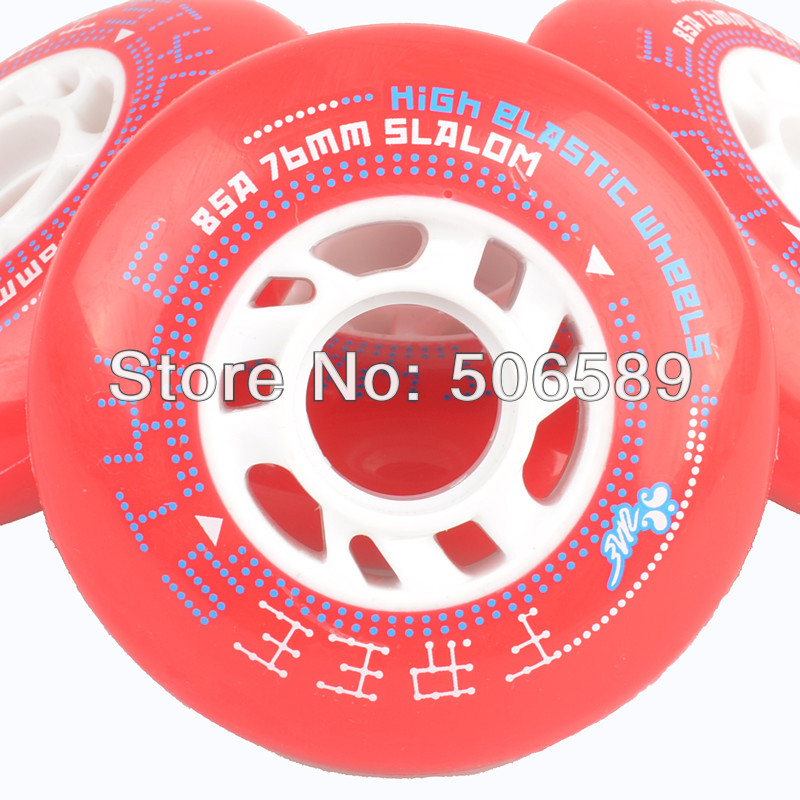 Roller Skates Wheels Freestyle Wheels 72 76 80 Red Blue 85A  High Quality 2014 New Design