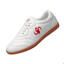Tai Chi Shoes Woman Dichotomanthes Wushu Shoes Soft Leather Wear Tthan Gril Croquet Kung Fu Tai Chi Sports Shoes(China)