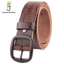 FAJARINA Mens Retro 38mm Width Good Quality Luxury Styles Genuine Leather Casual Woven Belts for Men Belt N17FJ190