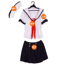 Stage Performances Halloween Party Dress Up Female Sailor Sexy Appeal Navy Costumes with Hat