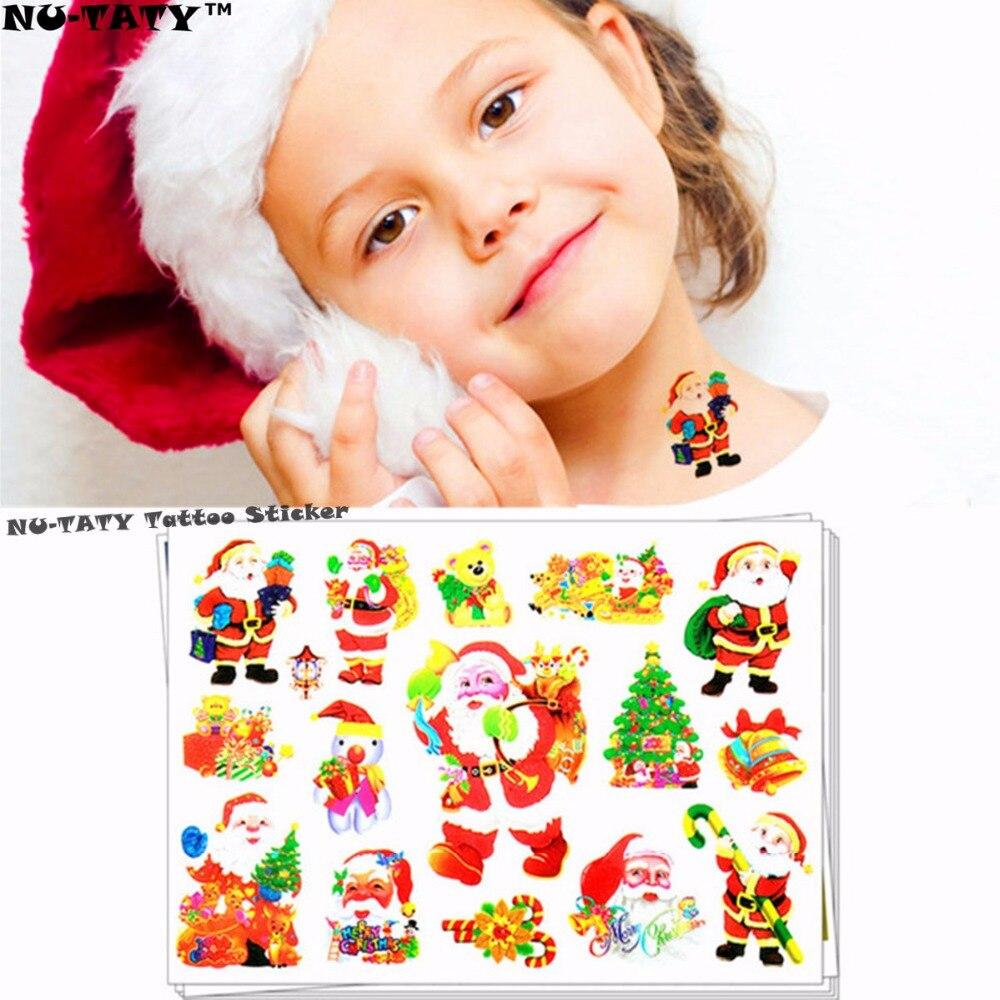 Nu-TATY Cute Santa Claus Child Dočasné tetování Body Art Flash Tattoo Stickers 17 * 10cm Waterproof Henna Tato Car Styling Sticker