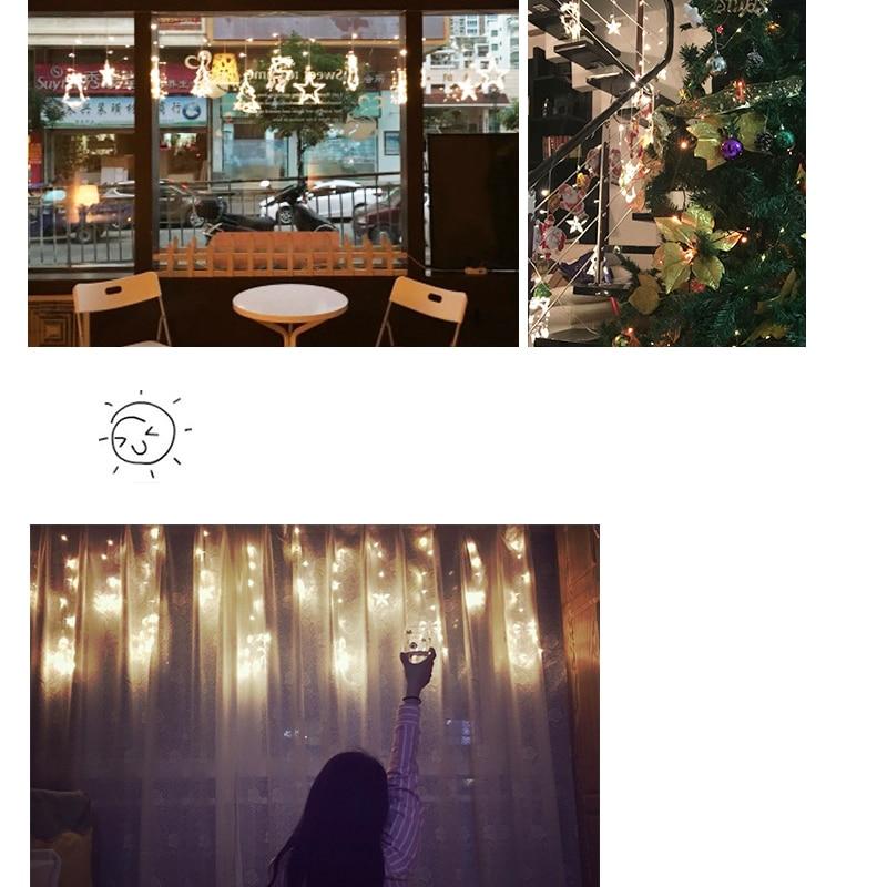 WoodPow 3M 12LED Holiday Party Ljusfönster Juldekoration Light - Festlig belysning - Foto 5