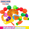 24 Pcs/ Set Plastic Fruit Vegetable Kitchen Cutting Toys Early Development and Education Toy for Baby Kids Children m320