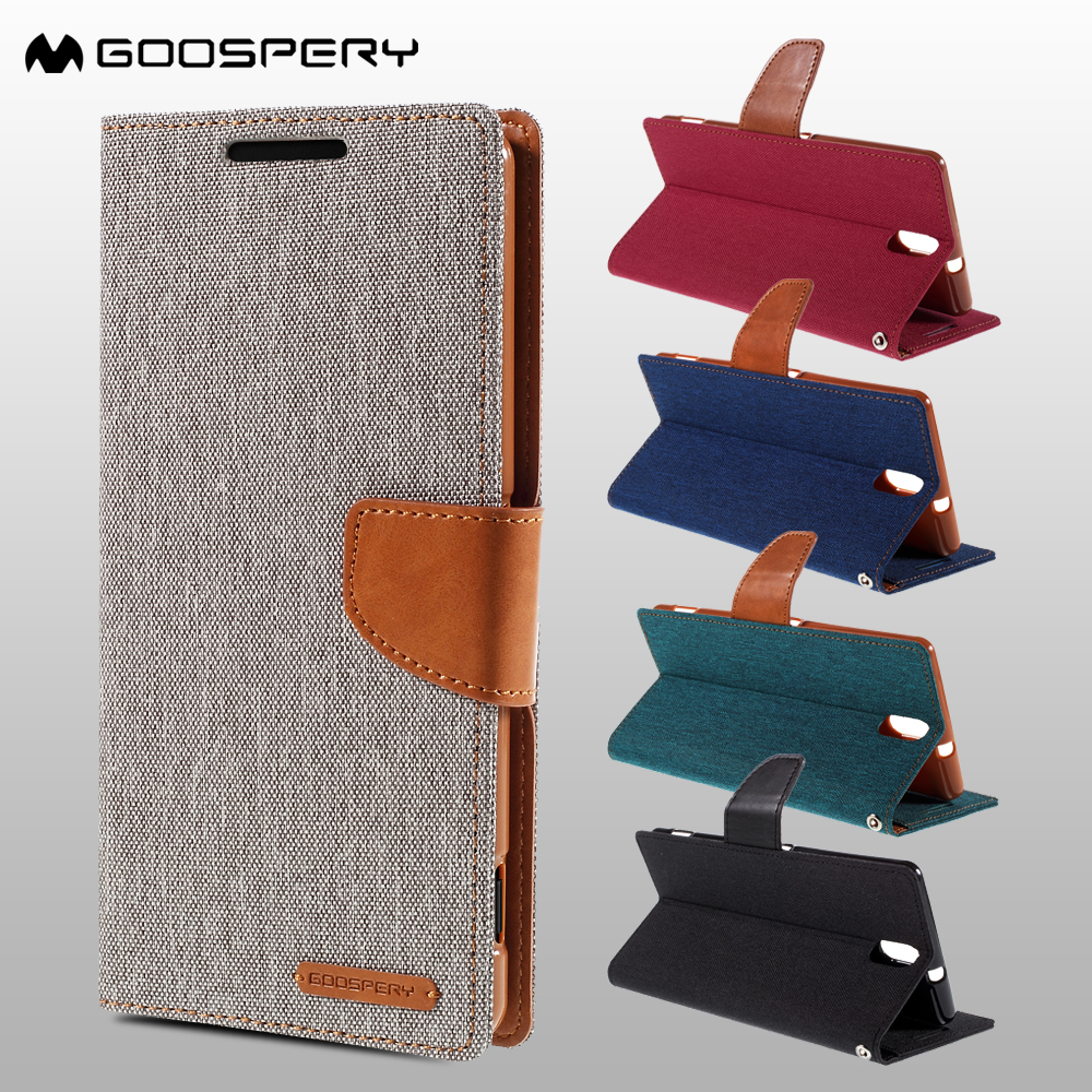 MERCURY GOOSPERY for Sony Xperia C5 Ultra Case Canvas PU Leather Cover for Sony Xperia C5