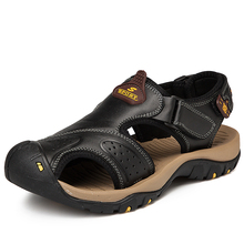 Top Quality Hot Sale New Fashion Sandal Men Sandals Summer Genuine Leather Outdoor Shoes Plus Size DB0147