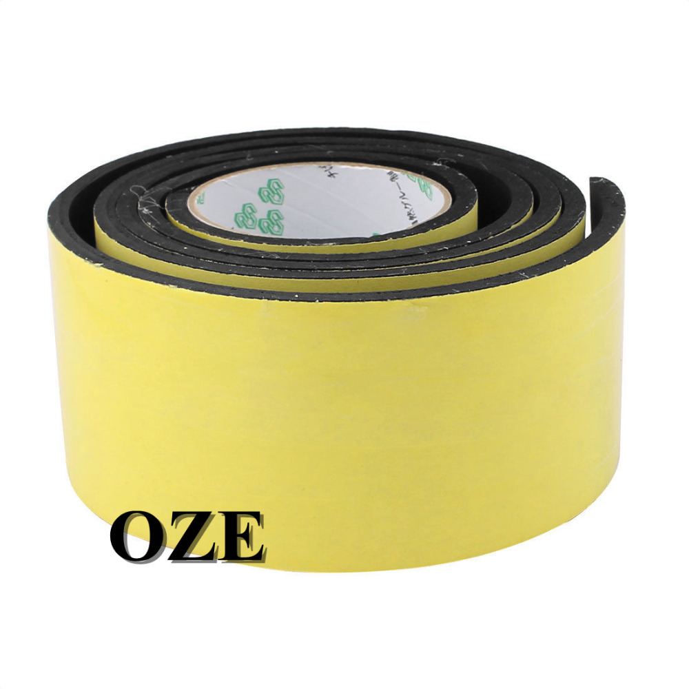 1PCS Single Sided Self Adhesive Shockproof Sponge Foam Tape 2M Length 6mm x 80mm 2pcs 2 5x 1cm single sided self adhesive shockproof sponge foam tape 2m length