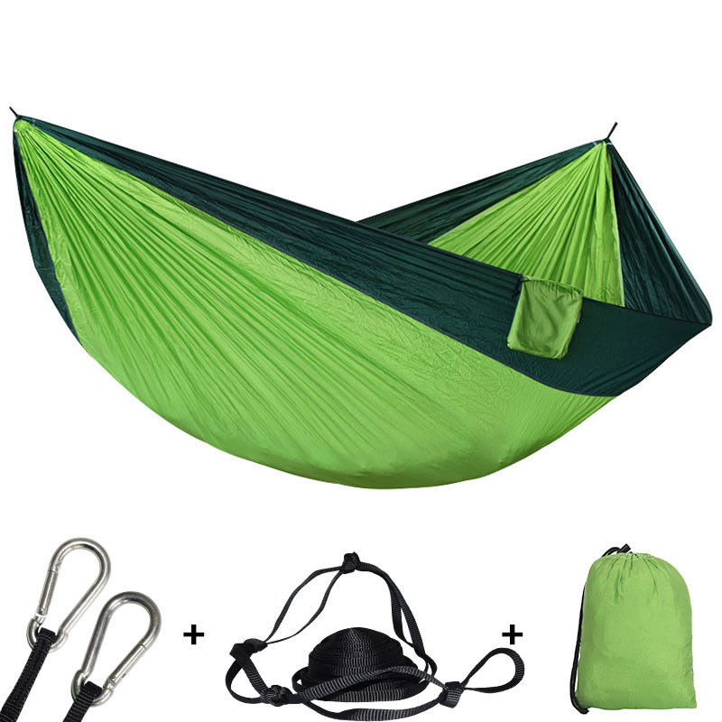 320*200cm Large Size Hammock For 2 With 2Straps 2 Carabiners For Outdoor Camping Sleeping Hanging Bed-in Hammocks from Furniture