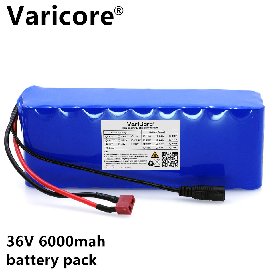 36 6ah (10S3P) batteries, bicycles, Electric car battery, 42V Lithium battery + Cherger liitokala 36v 6ah 10s3p 18650 rechargeable battery pack modified bicycles electric vehicle protection with pcb 36v 2a charger