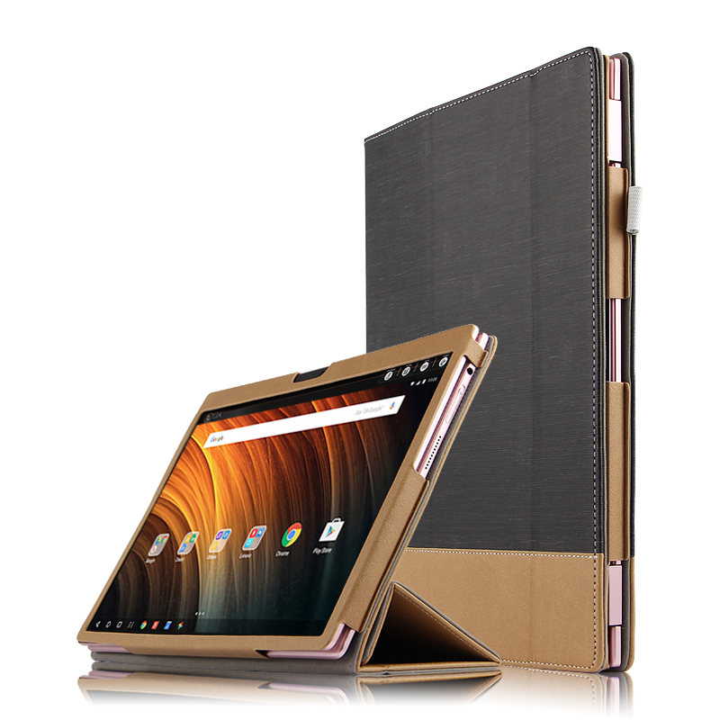 High Quality 3-Folder Canvas Grain Folio Stand PU Leather Skin Shell Cover Case For Lenovo Yoga A12 a12 12 12.0 inch Tablet мужские часы appella ap 4403 07 0 1 04