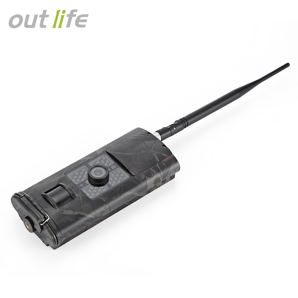 Outlife <font><b>HC</b></font> - <font><b>700G</b></font> 3G SMS GSM 16MP 1080P Infrared Night Vision Wildlife Hunting Trail Camera Animal Scouting Device image