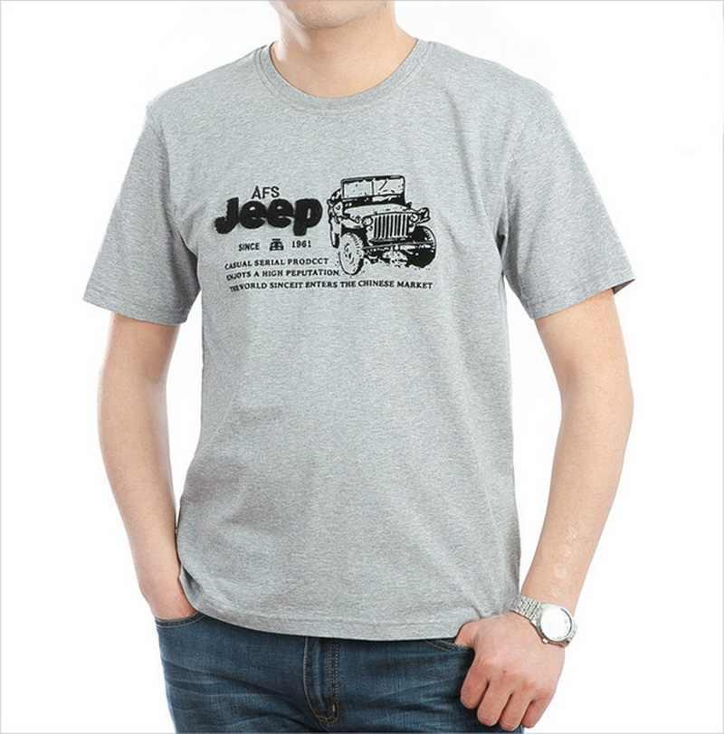 Эластичная хлопковая футболка, мужская летняя брендовая одежда AFS JEEP, повседневные 3D футболки, армейская тактическая футболка, футболка в стиле милитари, UMA012