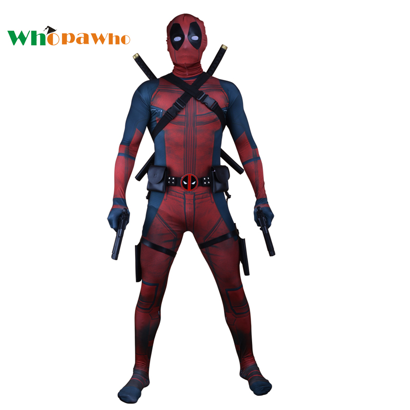 Deadpool Cosplay Halloween Zentai Full Body Deadpool Costume Adult Digital Print Lycra Costumes Kids Jumpsuit