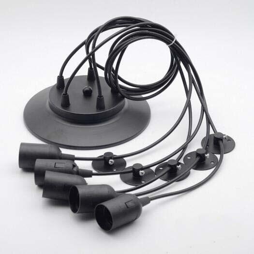 스파이더 펜던트 라이트 레트로 펜던트 램프 북유럽 천장 램프 LED 산업 교수형 램프 거실 레스토랑 카페 장식