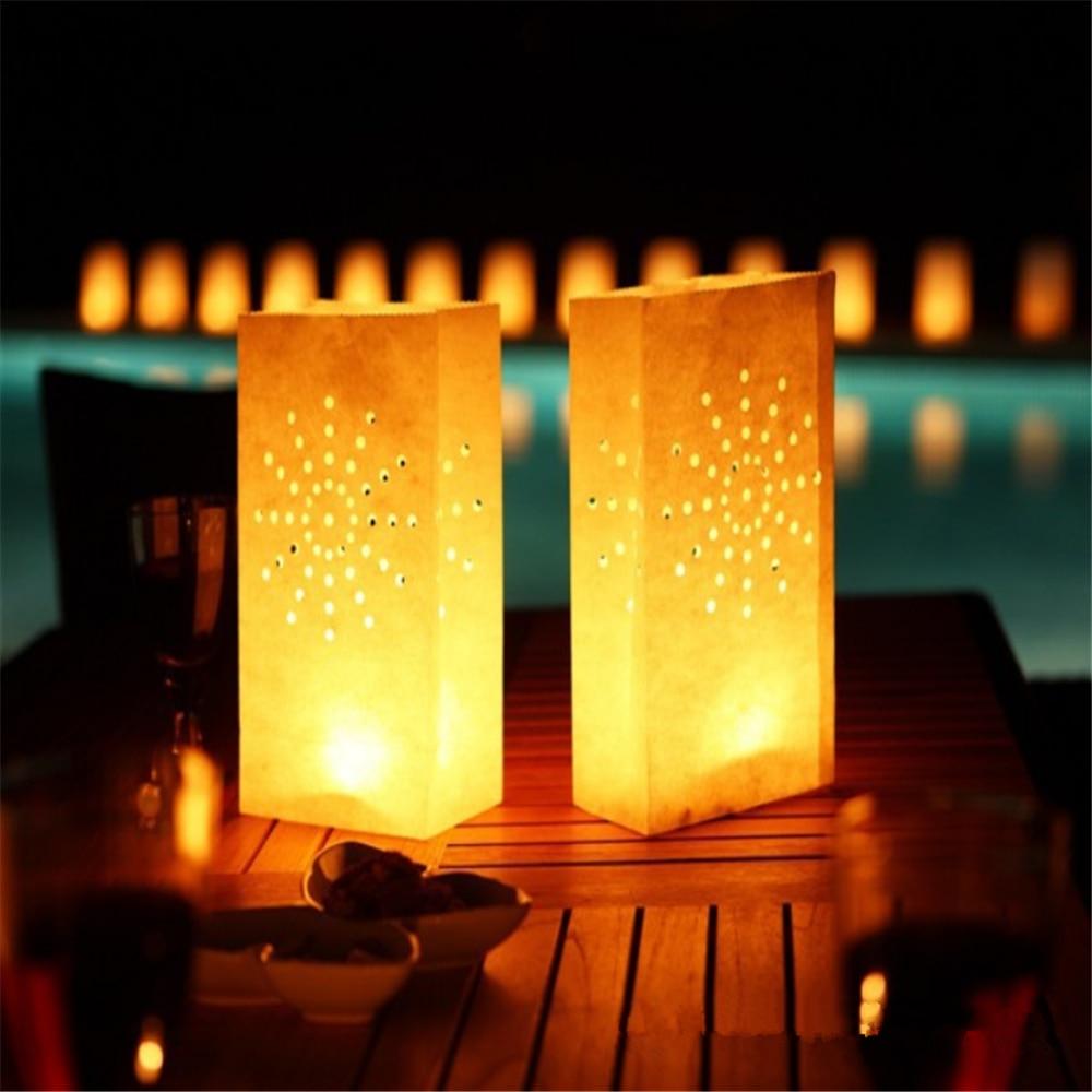 10pcs/lot Sun flower Candle Bag Retardant Paper Bags Flame Lantern ... for Paper Bag Lanterns Diy  35fsj