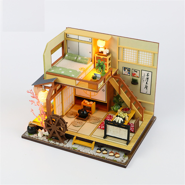 Us 19 49 25 Off Diy Model Doll House Wooden Miniature Dollhouse Furniture Kit Toys For Children Christmas Gift M034 Karuizawa S Forest Holiday In