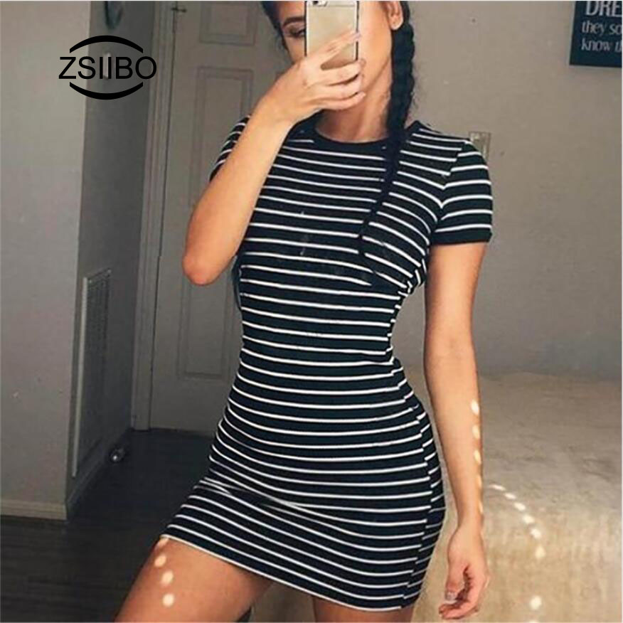d8f0a10a2f Harajuku Style Black and White Striped T Shirt Women Casual Short Sleeve  Bodycon Tops For Female