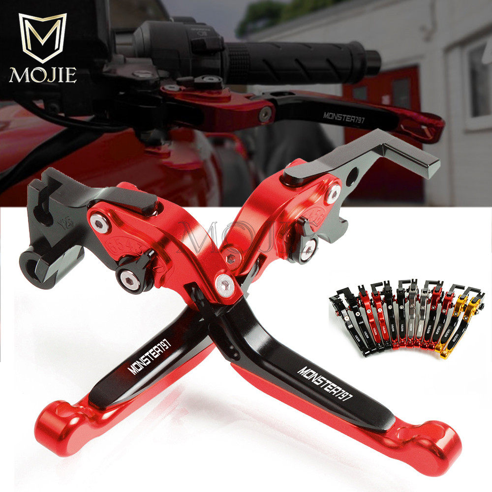 For DUCATI MONSTER 797 M797 M 797 2017 2018 Motorcycle Accessories CNC Aluminum Adjustable Folding Extendable