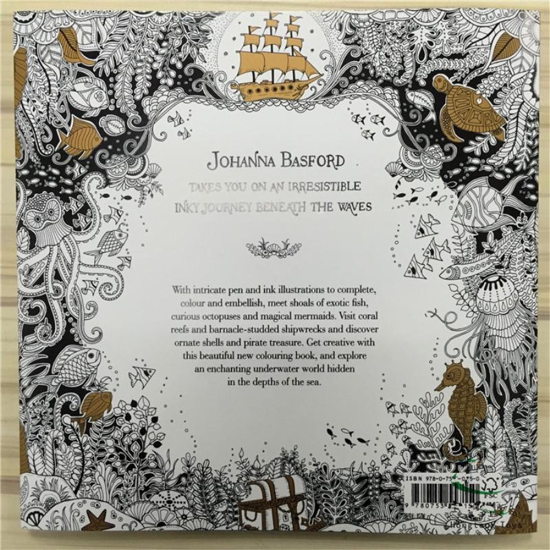 4pcs English Edition Secret Garden Mandala Lost Ocean Animal Kingdom