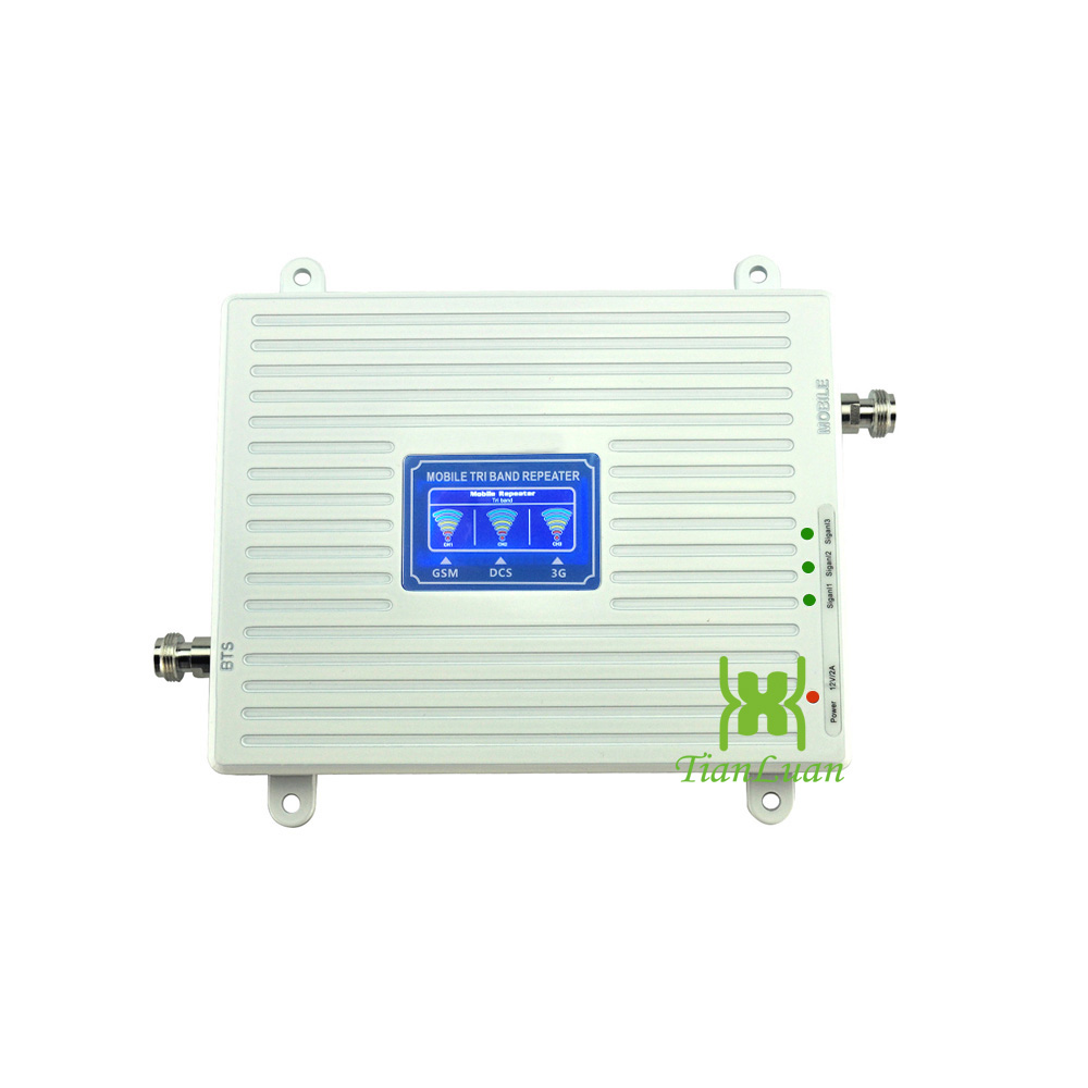 Image 2 - 2G 3G 4G Tri band Mobile Phone Signal Booster GSM 900mhz LTE DCS 1800mhz W CDMA 2100mhz Cell Phone Signal Repeater with Power-in Signal Boosters from Cellphones & Telecommunications