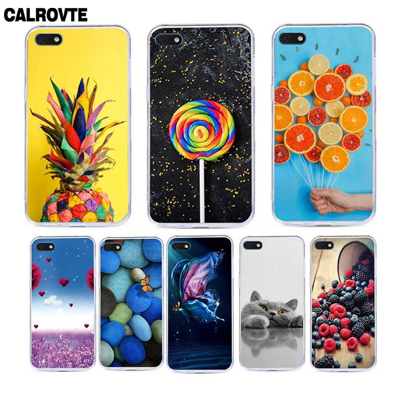 For Huawei Y5 2018 Case Cover Silicone TPU Printing Funda for Huawei Y5 Prime 2018 / Honor Play 7 / Honor 7s Case Cover Coque