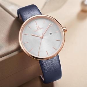 Image 4 - NAVIFORCE Frauen Uhr Mode Lässig Quarz Dame PU Armband Einfach Datum Wasserdichte Armbanduhr Geschenk für Mädchen/Frau/Frau 2019