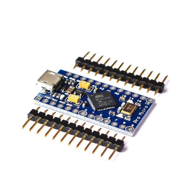 Новые Pro Micro для arduino ATmega32U4 5 В/16 мГц модуль с 2 строки заголовка штифт для Леонардо в наличии. Лучшее качество