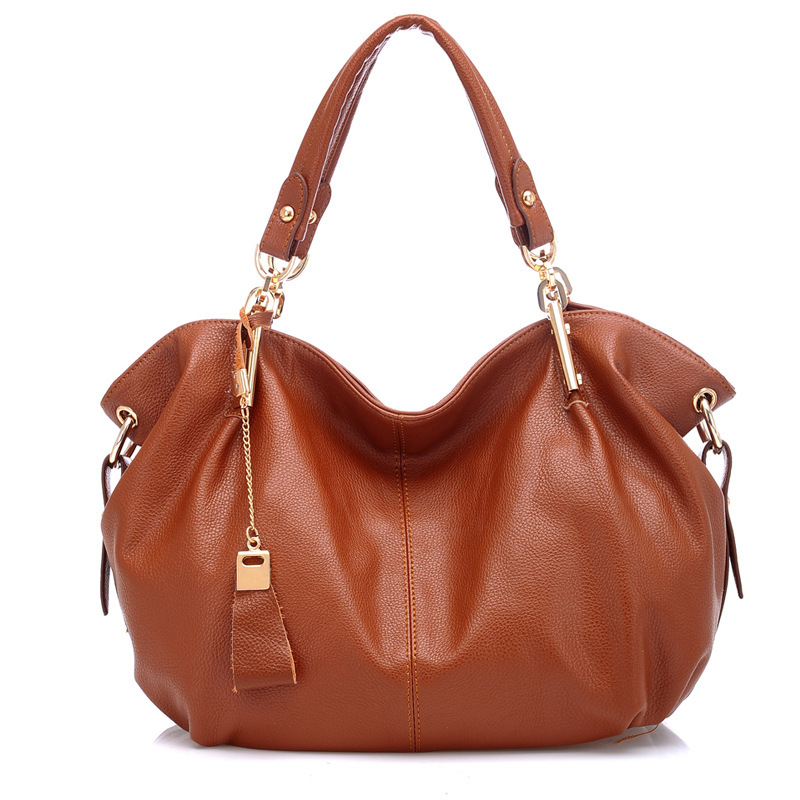 2018 NEW Women Genuine Leather Hobo Bag Real Leather Handbag Luxury Brand Woman Office Fashion Bag Large Gorgeous Shoulder Bags