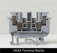 50 개 Udk4 DIN 레일 커넥터 터미널 블록 피닉스 유형