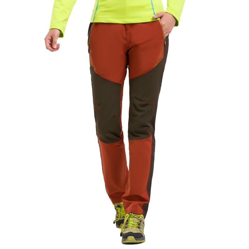 ФОТО New Autumn Winter Women Wear-resistant Hiking Pants Girls Windproof Outdoor Sport Climbing Trousers Big Size M-3XL Free Shipping