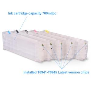 Image 2 - 5Colors/Set T6941 T6945 T6941 Refillable Ink Cartridge For Epson SureColor T3000 T3200 T5200 T7200 T3270 T5270 T7270 700ML/PC