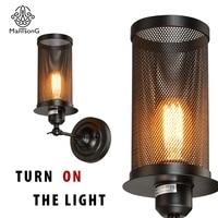 Loft Wall LED Lamps Vintage Lamp Industrial Iron Metal Lighting Decoration Lights Restaurant Hotel Retro Light