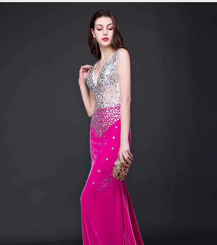 2017 Women Dresses Sexy Elastic Slim Elegant Mermaid Backless Party ...